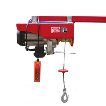 Single phase 230 v xách tay pa 1000 kg mini electric wire rope hoist winch