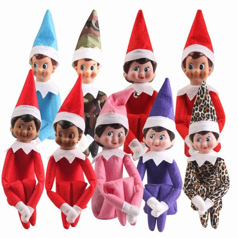 37cm Christmas Doll Elf on the Shelf Christmas Plush Dolls Boy Girl Stuffed Plush Toy Gifts For Kids Children Best Gift