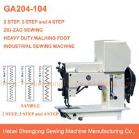 GA204-104 walking foot industrial zig zag sewing machine for leather