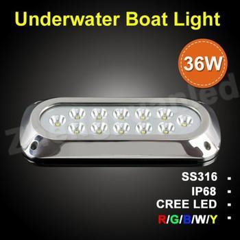 Led Ip68 Underwater Marine Boat Yacht Lamp Cabin Lights 36w Light 12v