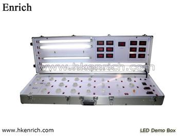 t8 led tube case carry led lights led test box /demo case