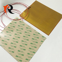 Flexible polyimide film heater, electric heating film