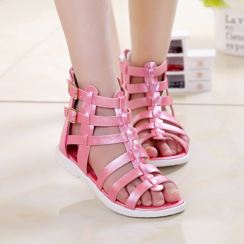 Fashion Summer Girls Gladiator Sandals Children s Princess Shoes Sapatos S2868