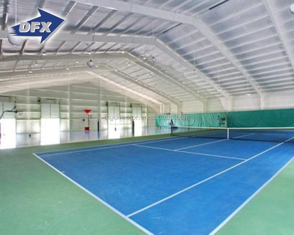 Prefab Steel Structure Frame Basketball Badminton Court Drawing Gymnasium Building