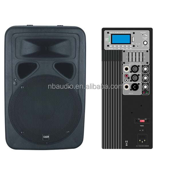 "professional stage outdoor15"" Active speaker box with digital amplifier module"