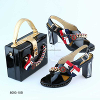 BL8093-10 ladies Shoe And Bag To Match Set Good Material Italian Shoe With Matching Bag For Wedding Italy