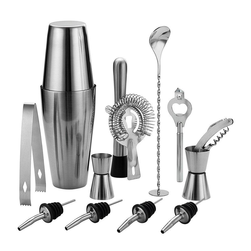high quality stainless steel bar set cocktail set