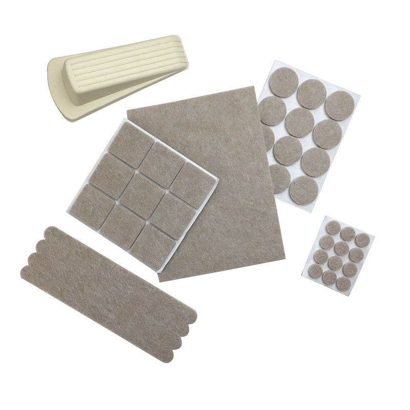 Self-Stick Furniture Felt Pads to Protect the Wood Floor with Various Sizes