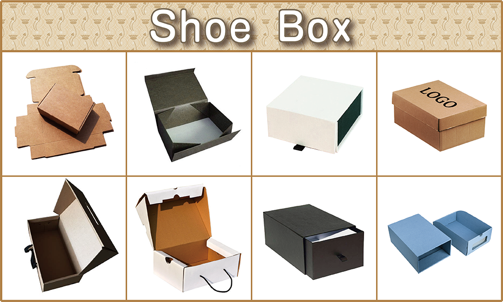Custom collapsible shoe paper gift box