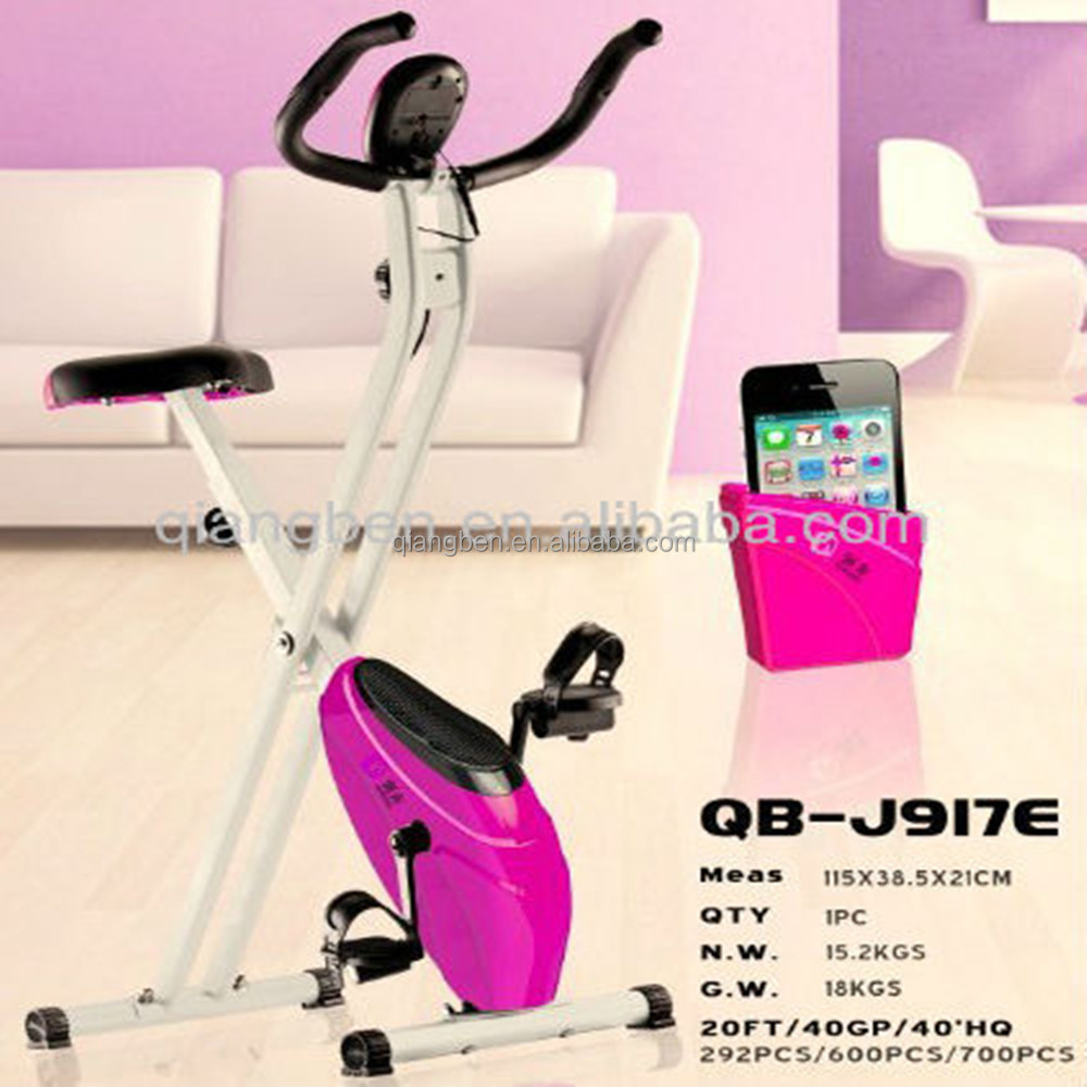 fashion adjustable magnetic gym bikes pink exercise bike lady fitness equipments