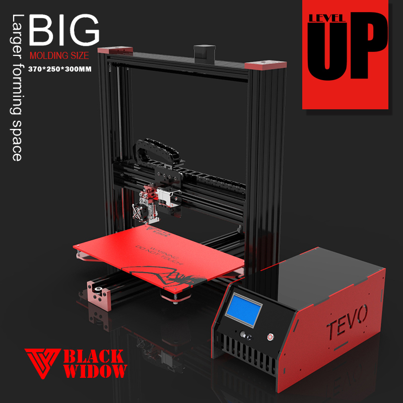 High Precision 3D Printer DIY 3d printer machine Newest -TEVO Black Widow -DIY 3d printer kit free Mosfet Larger printing Area