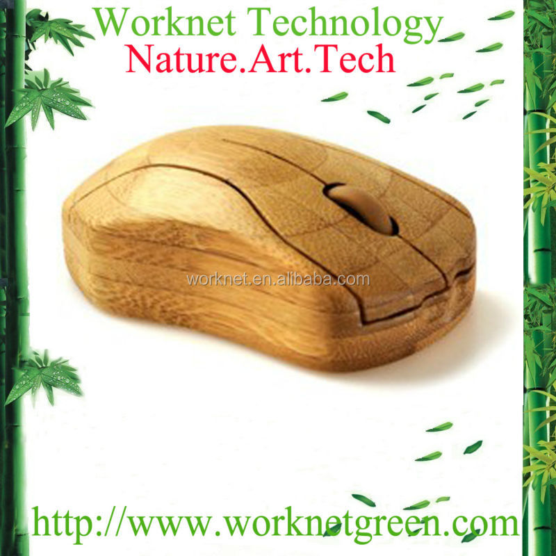 shenzhen factory unique style handmade craft wooden wireless optical mouse WK100-N