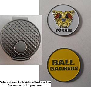 Ball Barkers Yorkie Golf Ball Marker & Hat Clip Yellow