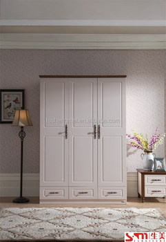 Useful Adjule 3 Door Wardrobe With Drawers Wood Color Closets Saving Place Small Mdf