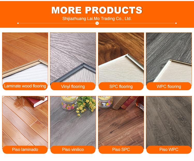 सस्ते कीमत यू नाली के साथ 12mm निविड़ अंधकार लकड़ी के टुकड़े टुकड़े फर्श ac4 pisos flotantes madera