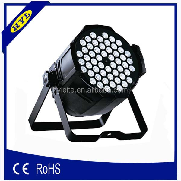 HY-L15A stage show professional lighting par64 3watt rgb led par can 54