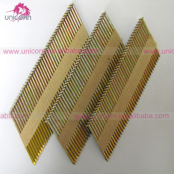 34 Degree Paper Strip 75mm Paper Collated Framing Nails
