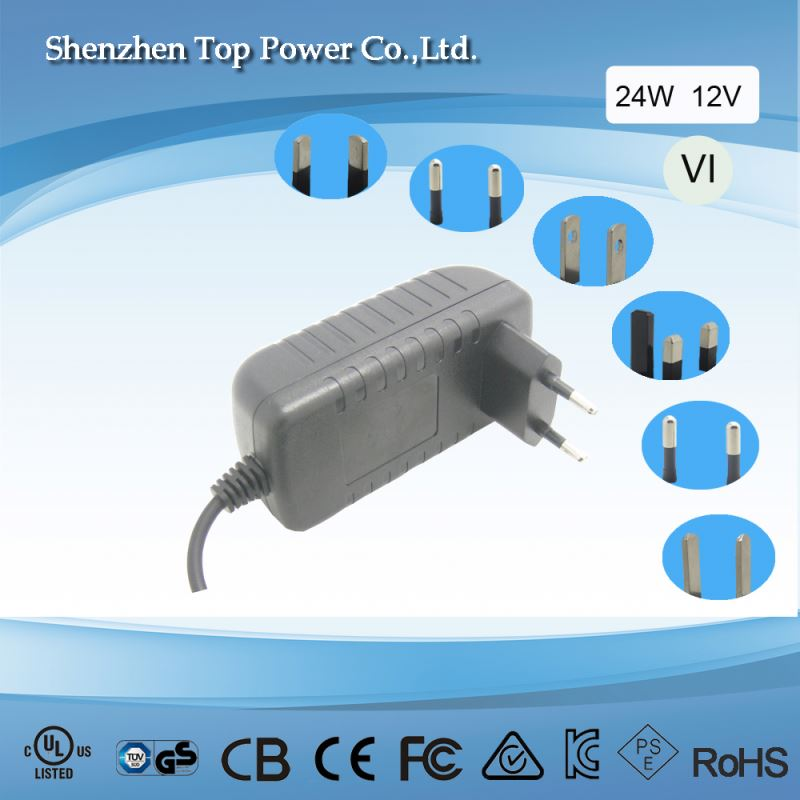 UL listed power adapter 12v 1a 12W Wall Mount ac/dc adapter 5V 2A wall mount ac/dc power adapter with CE power adapter with Euro