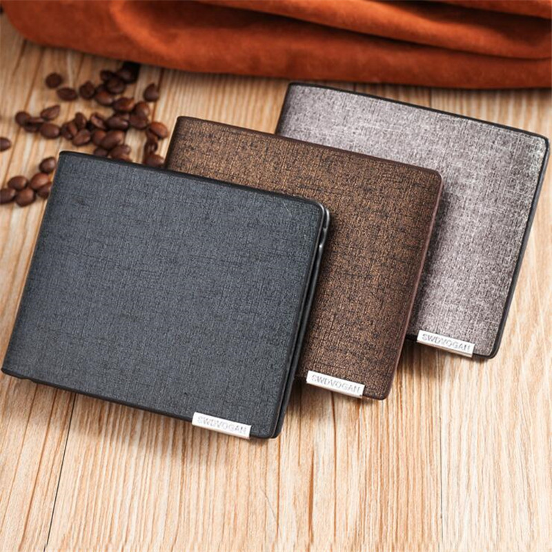 New Fashion Bifold Rfid Blocking <strong>Wallet</strong> Spot Men's PU <strong>Wallets</strong> Wholesale Stock Factory Custom Business Style