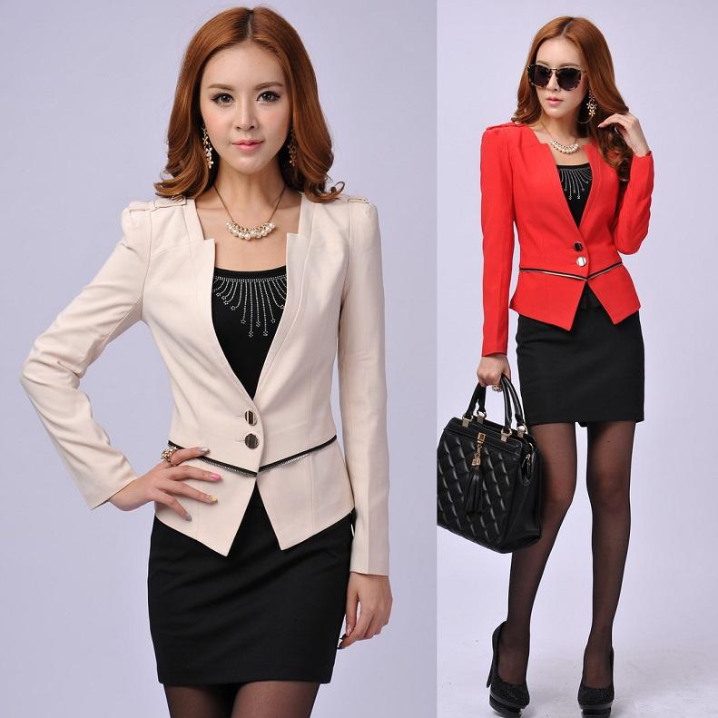 361e812ee07 Новый 2015 осенние и зимние офис единый дизайн женские костюмы с юбкой и  жакет набор красный