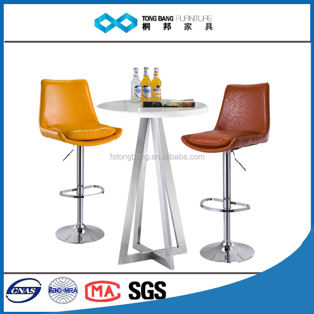 TB red wine color swivel bar stool supplier with backrest pu bar stools
