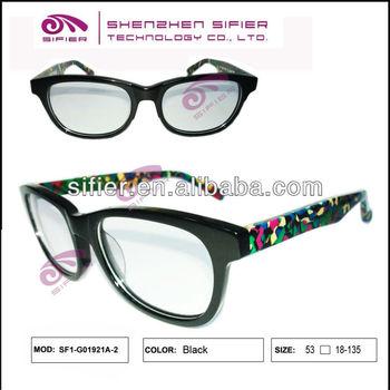 9e445954f1b Newest Black Front Rainbow Temple Eyeglass Frames - Buy Rainbow ...