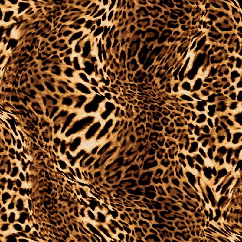 Popular Tropical Leopard Printed Polyester Swimwear Spandex Stretch Fabric