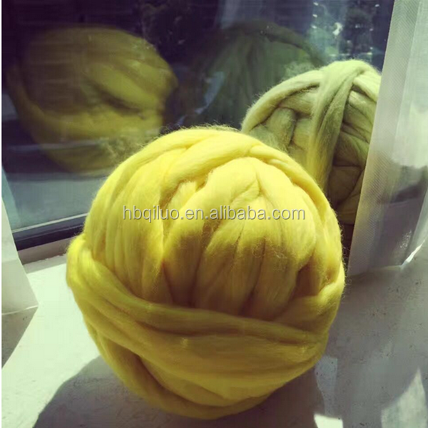 Giant High quality 19 micron 100% merino wool yarn hand Arm knitting super chunky yarn