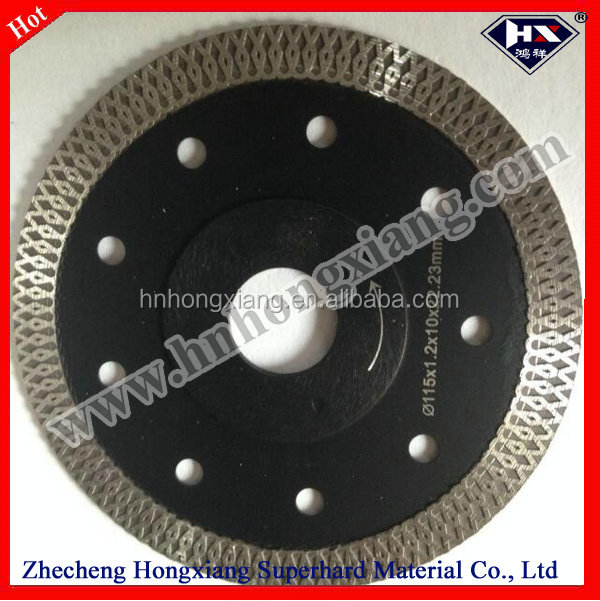 stone cutting blade cutting tools saw machine diamond blade wet cutting hot pressed turbo blade with flange