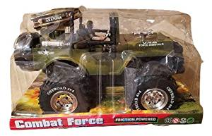 Combat Force Friction Powered USA Army Off Road Jeep Truck 4x4