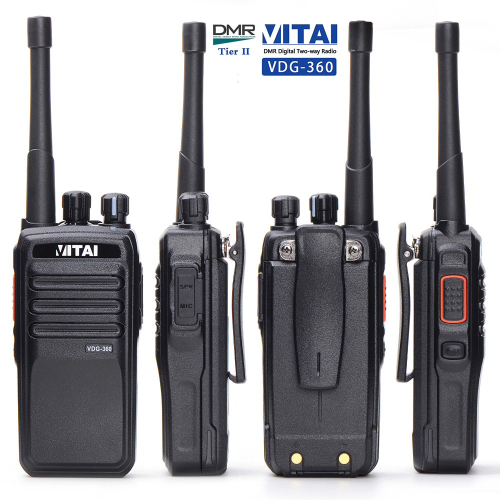 VITAI VDG-360 4W/5W/1W Professional VHF UHF DMR Tier 2 Digital Walkie Talkie