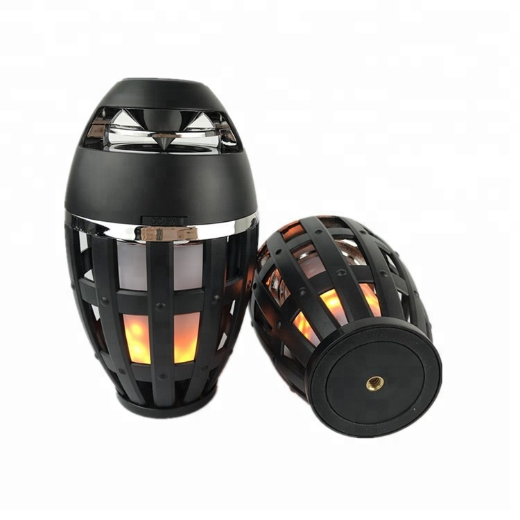 New Arrival Portable Outdoor 방수 무선 LED Flame Lamp Blue tooth 스피커 대 한 Amazon