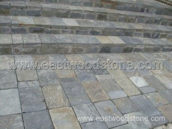 Rusty Tumbled Stone Patio Paver