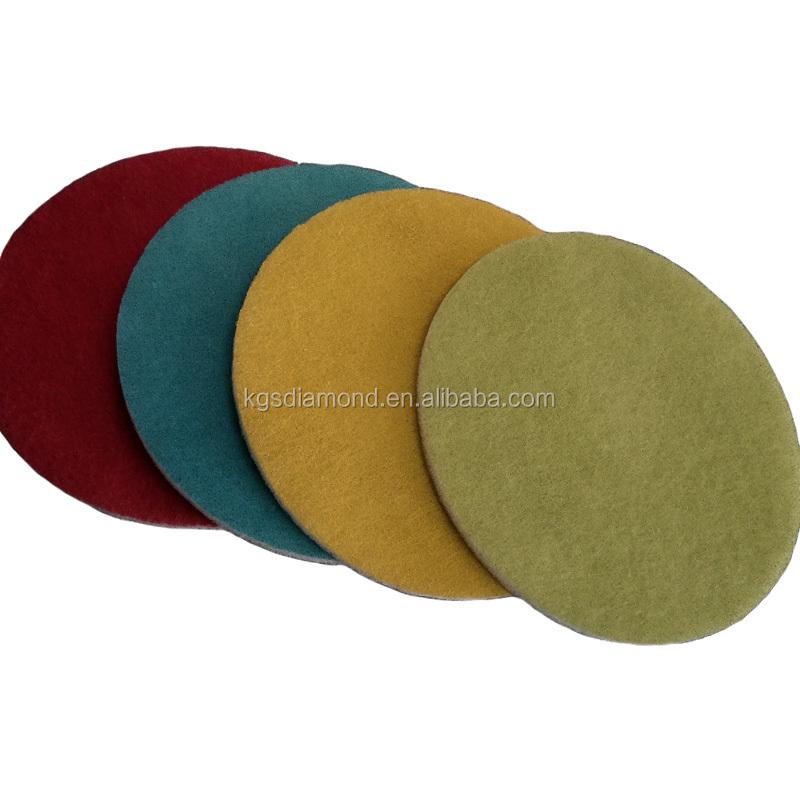 Kgs Green 17inch Diamond Floor Polishing Pads For Granite