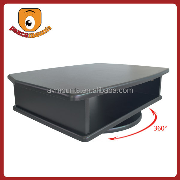 360 degrees Rotate high quality black wood led tv stand furniture mdf