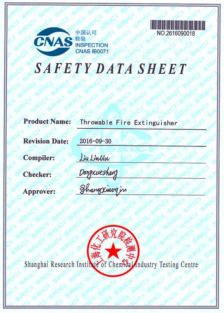 Hand Held Fire Extinguishers/throwable Fire Extinguisher