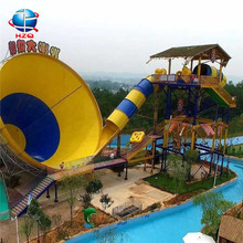 New design production of water slides, most popular serpentine water slide