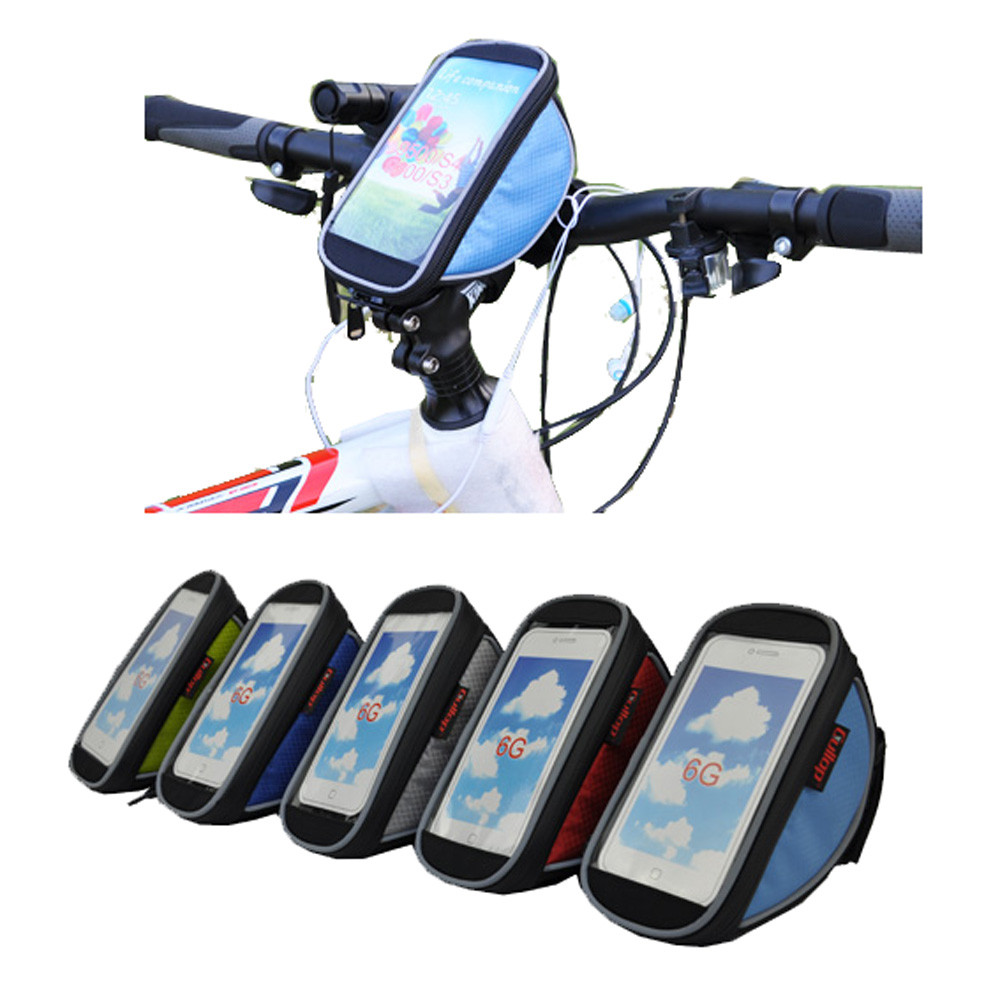 Water Resistant Front Frame Tube Handlebar Carrier Accessory Cycling Bicycle Bike Bag