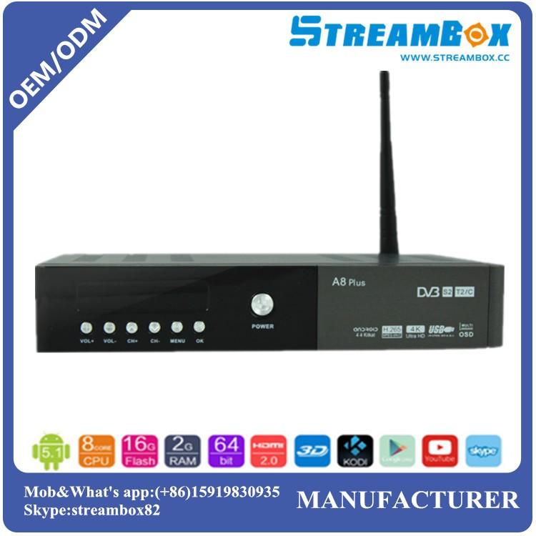 A8 plus twin tuner 6000 channels TV and Radio programmable HD androidr TV Box