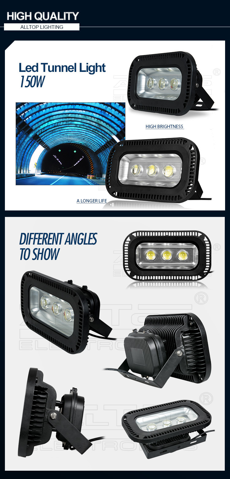 Waterproof IP65 Bridgelux Meanwell Power Supply 150W led tunnel light