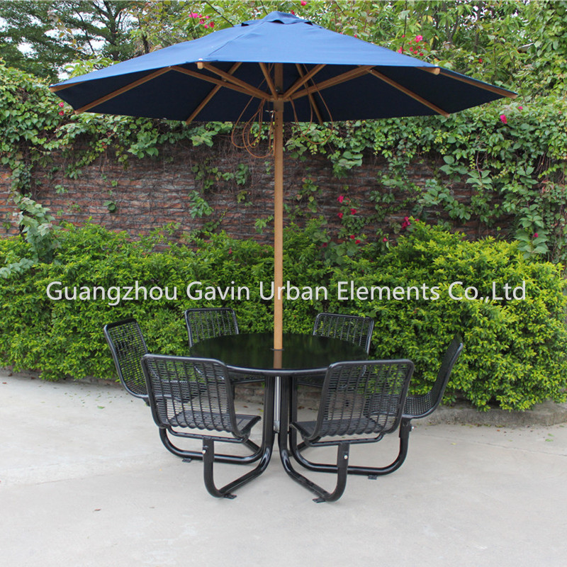 Gavin outdoor metal picnic table chair set