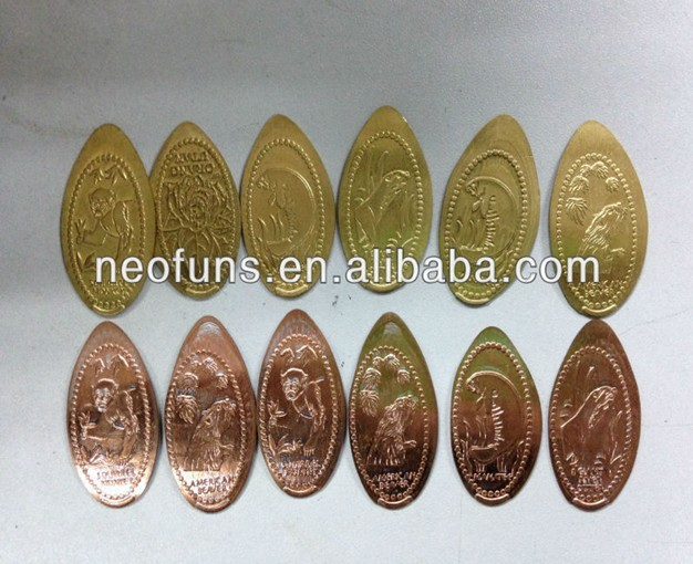 NF-P43 penny press machine , elongated coin hot sale , coin making machine