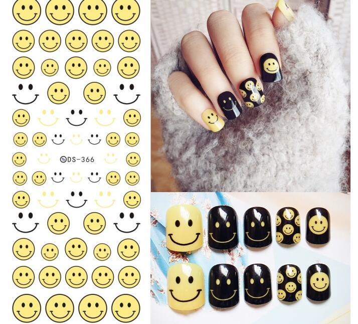 Face Emoji Art Sticker Water Decals Various Expression Nail Art ...
