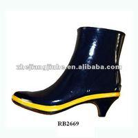 Ladies' High Heel Rubber Rain Boots / High Heel Rubber Boots /rain ...