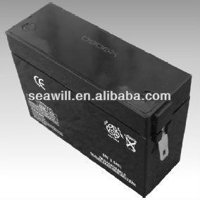 Valve regulated rechargeable lead acid battery 4v 2.5Ah