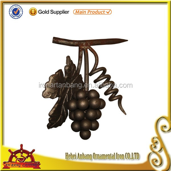 Garden decoration wrought iron cast steel grapes and leaves