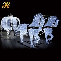 Acrylic decoration Christmas and wedding lights Cinderella horse carriage