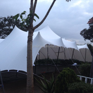 stretch tent material with pu coated on both side