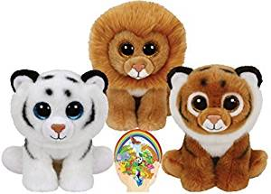 Get Quotations · Ty Beanie Babies Tigers Tiggs and Tundra and Louie the  Lion Gift set of 3 Plush 50b1f3366f65