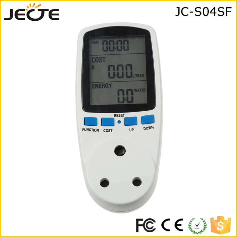 South Africa Socket Plug-in Power Consumption Meter Energy Electricity Usage Watt Calculator Monitor